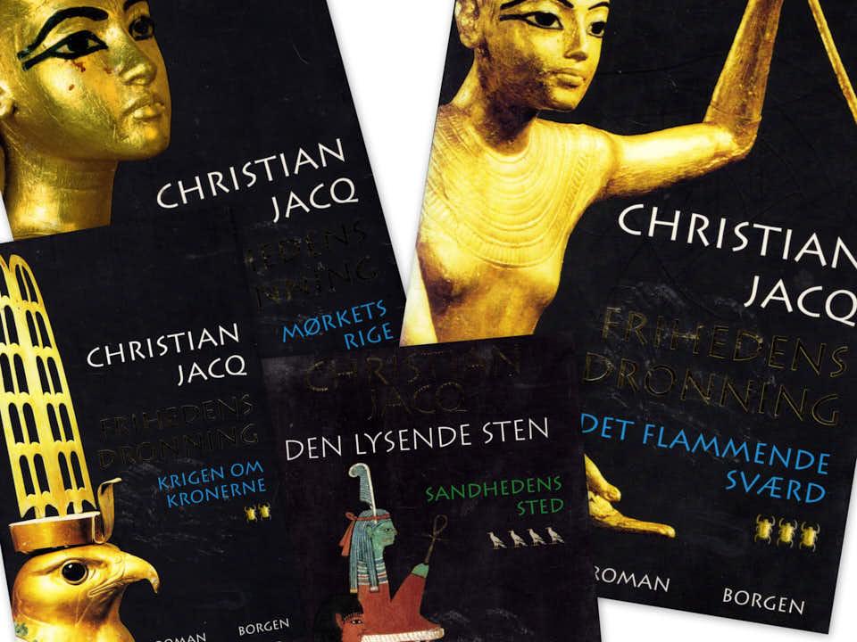 Christian Jacq. 4 stk. 100.-/30.- stk.