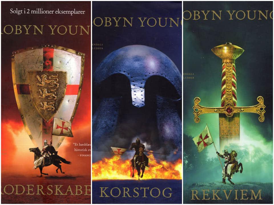 Robyn Young serie. 50.-/stk. 3 stk.120.-